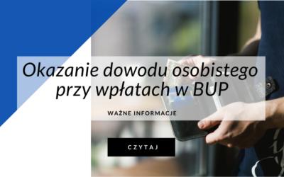Okazanie dowodu osobistego przy wpłatach w agencjach opłat (BUP)